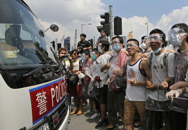 Hong Kong Protests Masked