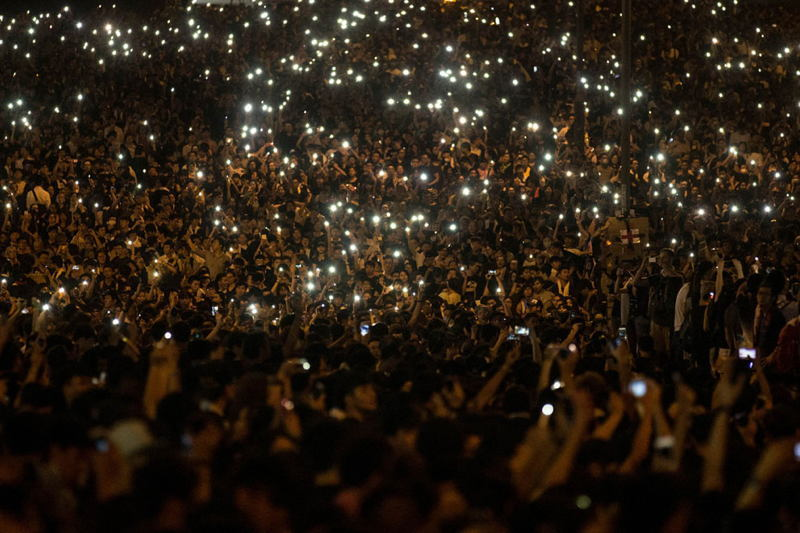 Hong Kong Protests Mobile Phones