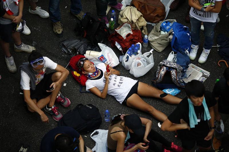 Hong Kong Protests Repose