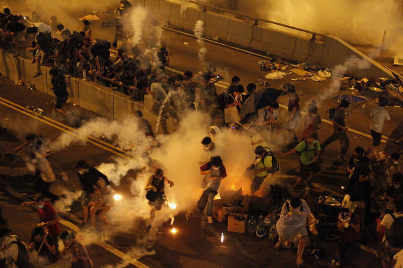 Hong Kong Protests Tear Gas
