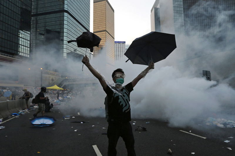 Hong Kong Protests Umbrella