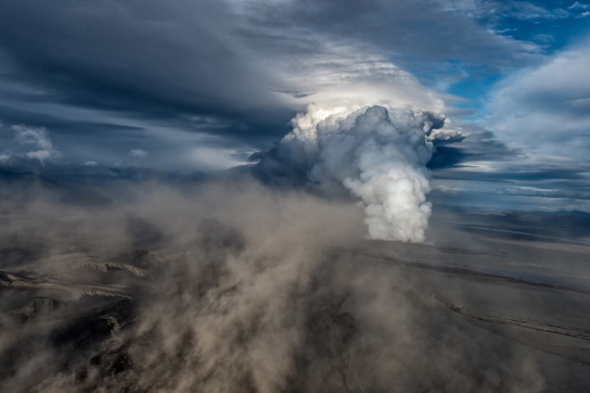 Iceland Volcano Dramatic Clouds