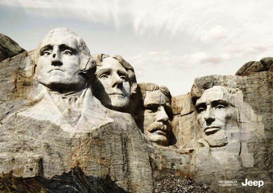 Jeep Wrangler Mount Rushmore Ad