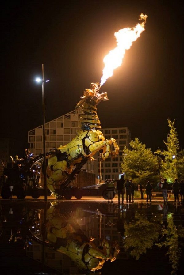 Fire-Breathing Dragon in France