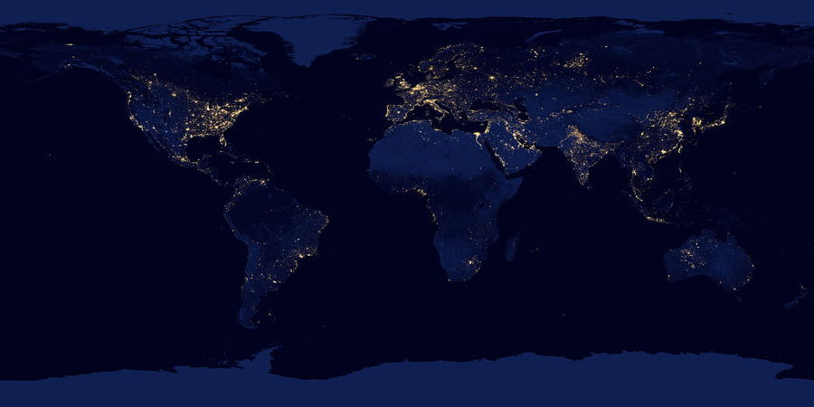Satellite Images Light Pollution
