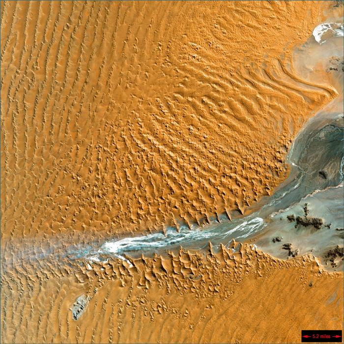 Satellite Images Namibia Desert