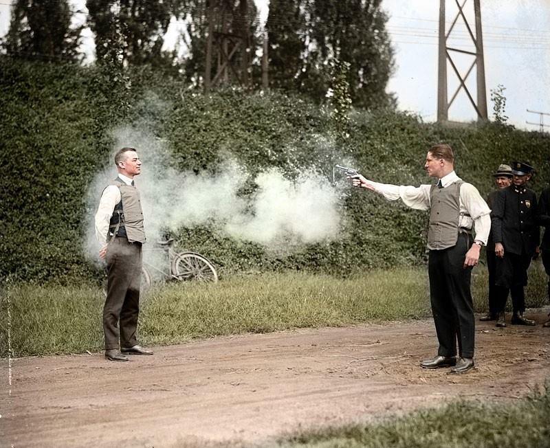 Testing A Bulletproof Vest In 1923