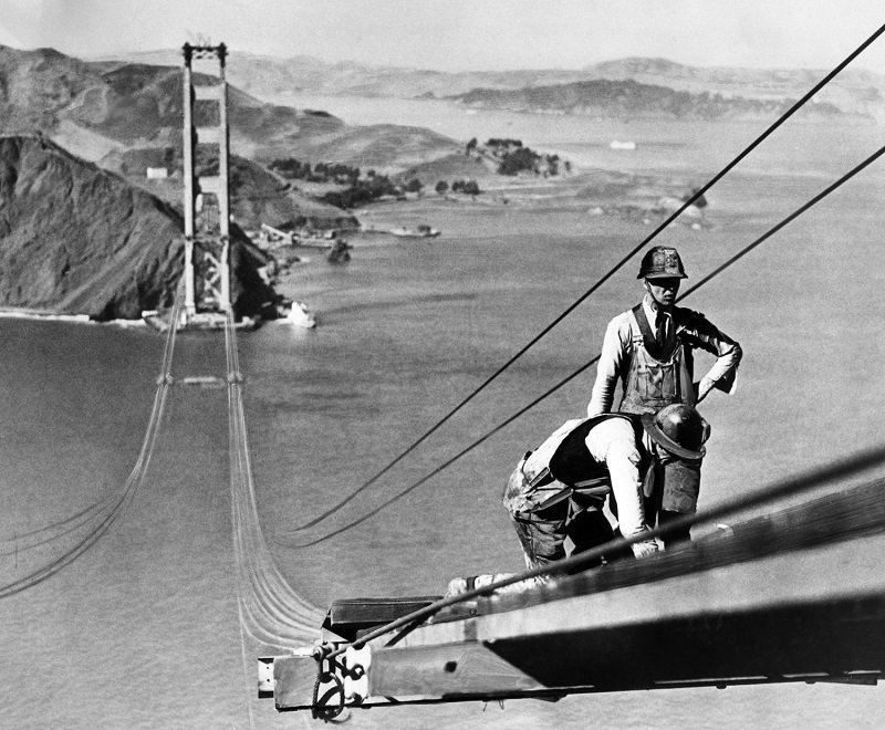 1935 Golden Gate Bridge Construction