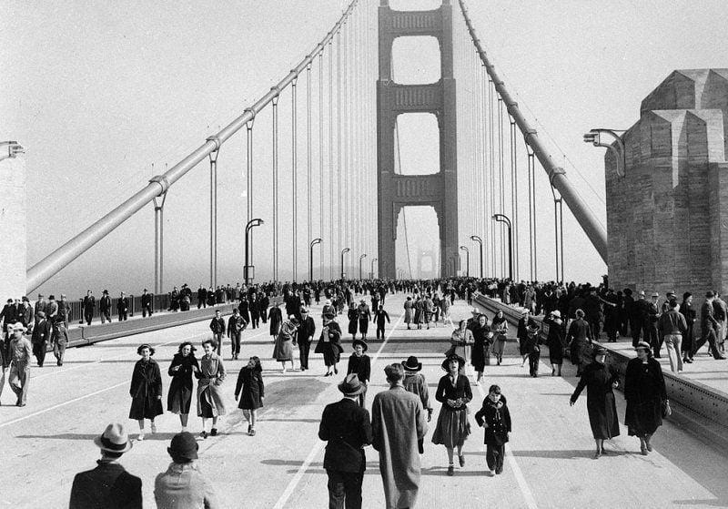 Vintage San Francisco Golden Gate Bridge Opening Day