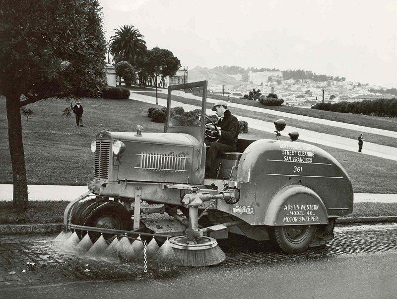 Street Sweepers Vintage San Francisco