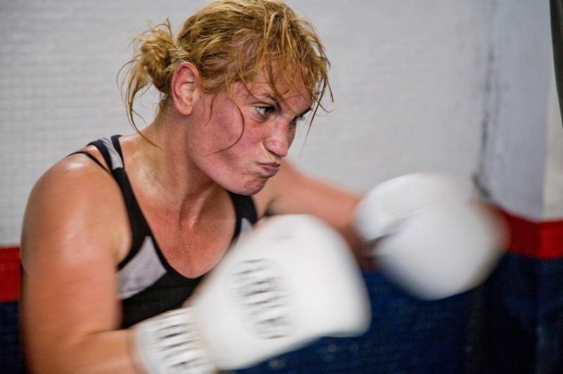 Women Boxers Locker Room