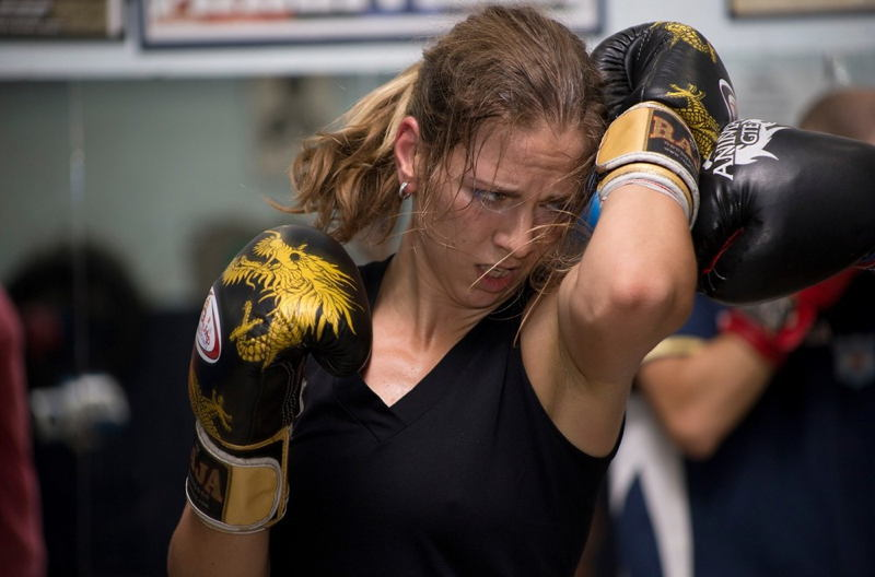Women Boxers Punching