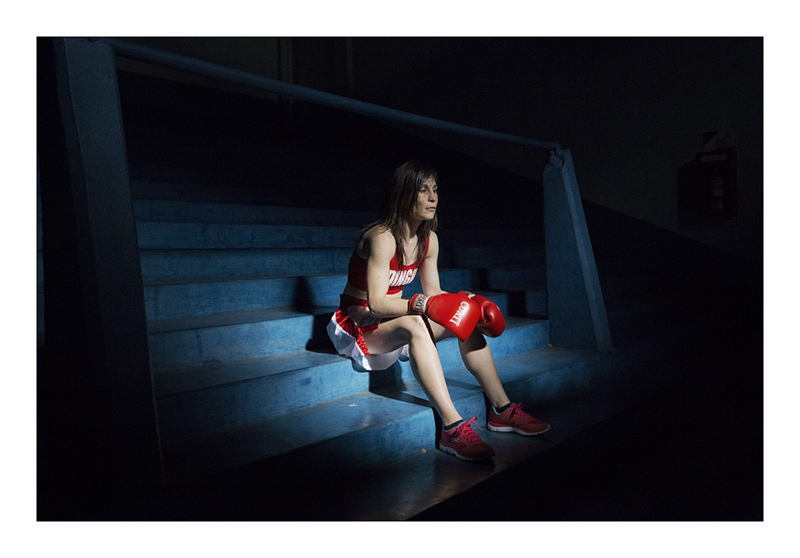 Women Boxers Shadow