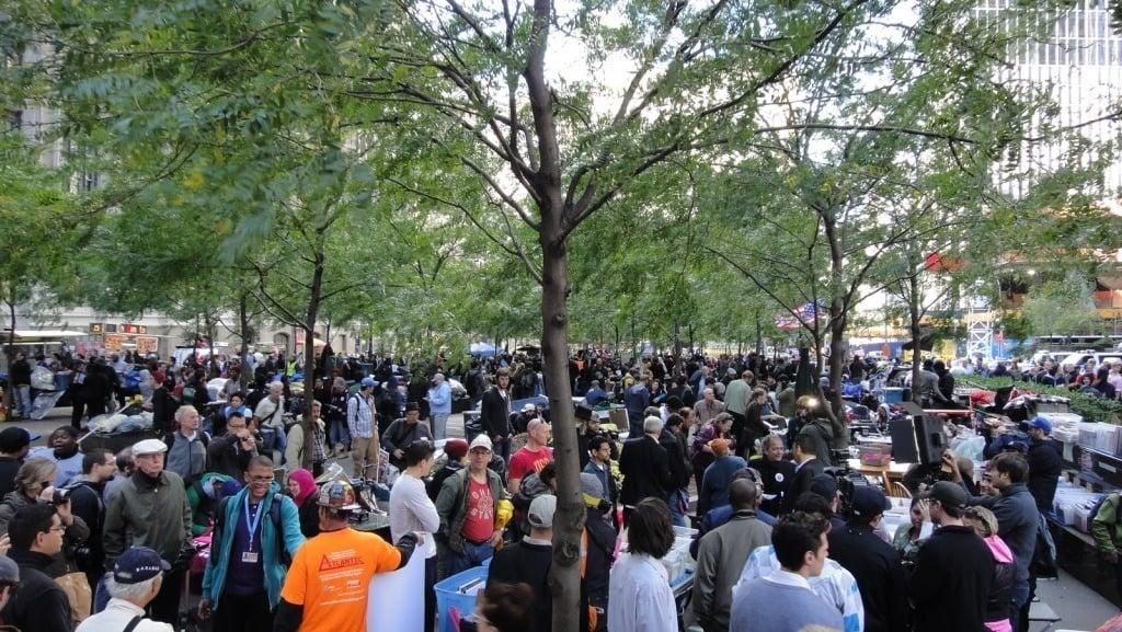 OWS Protestors in Zuccotti Park
