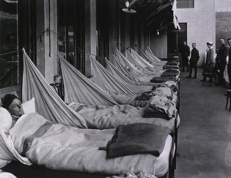 Bedridden Victims Of The Spanish Flu