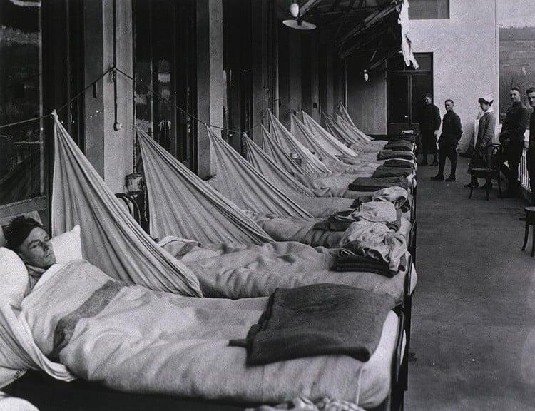 1918 Flu Pandemic Bedridden