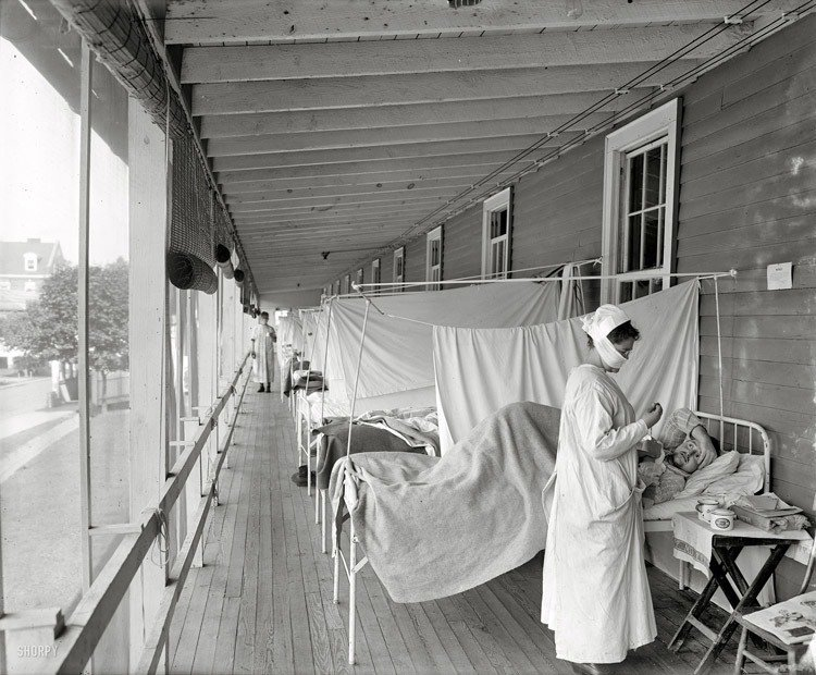 Porch Ward For The 1918 Flu