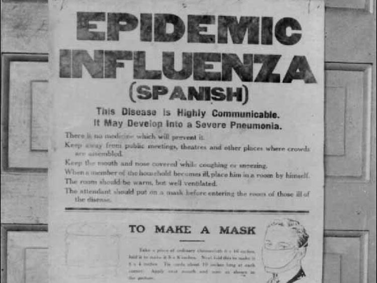 1918 Flu Pandemic Poster