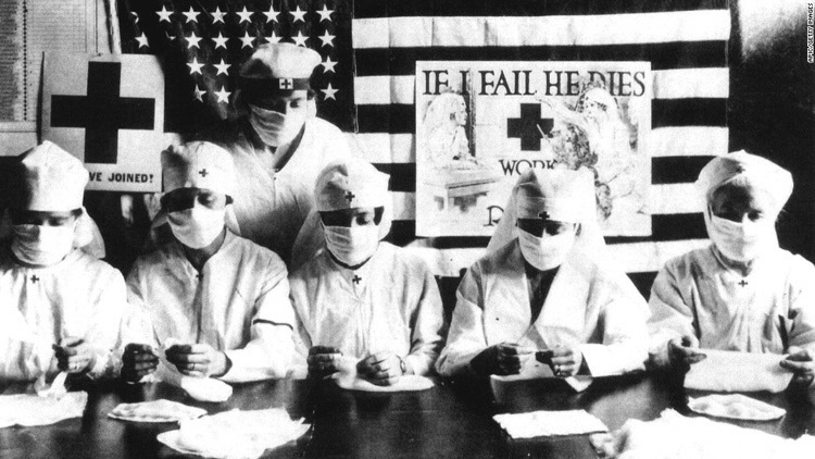 1918 Flu Pandemic Table Fold