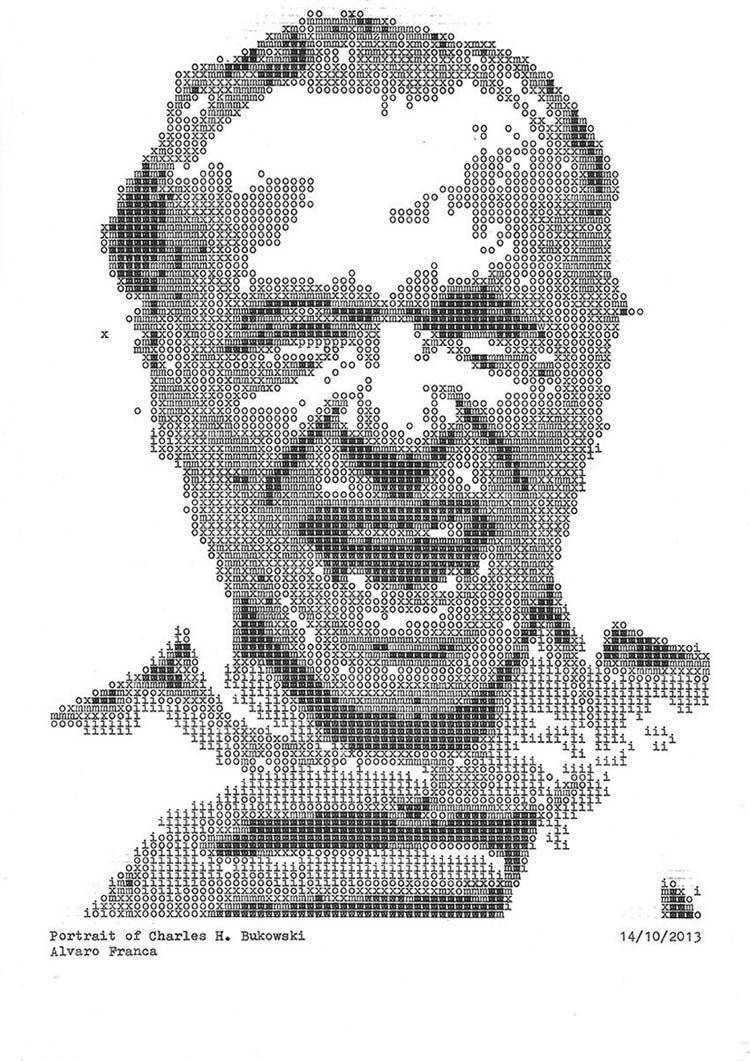Typewriter Portraits Bukowski