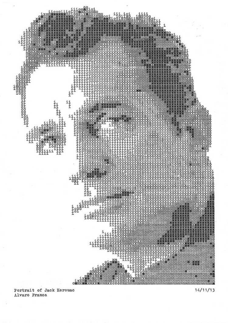 Jack Kerouac Typewriter Portraits