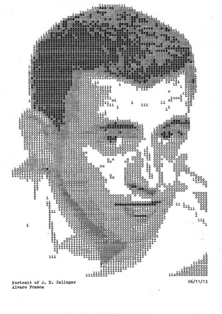 Typewriter Portraits Salinger
