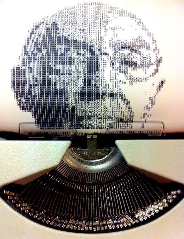 Typewriter Portraits Saramago