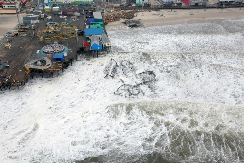 Hurricane Sandy Roller Coaster