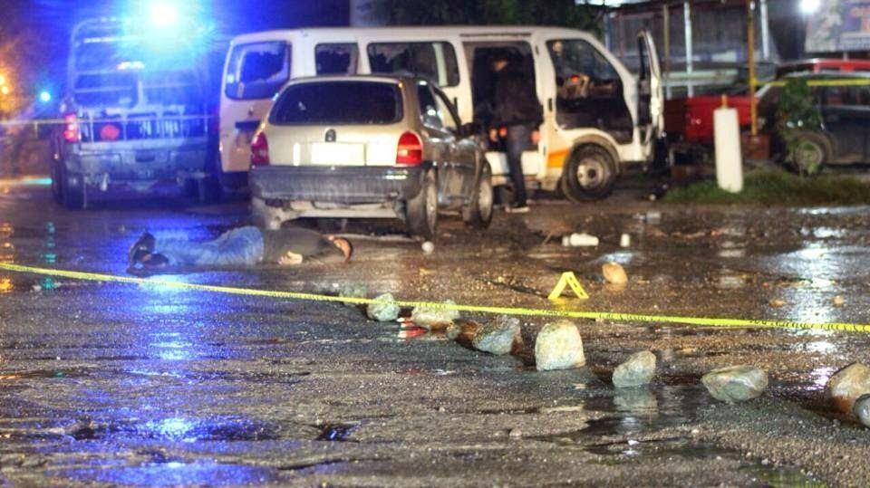 Crime scene at Iguala, Mexico
