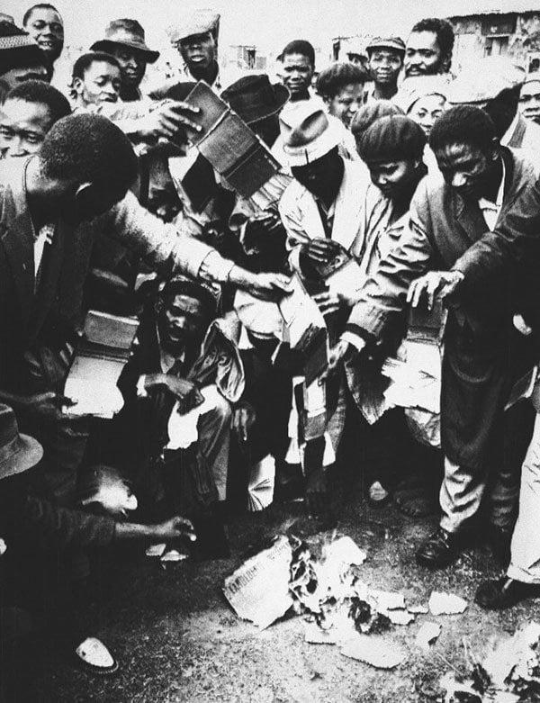 Apartheid Burning Passes