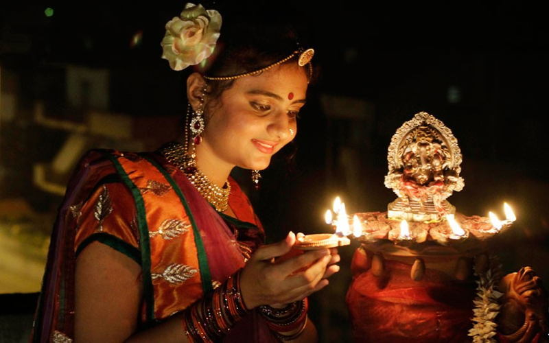 Autumn Celebrations Diwali Girl