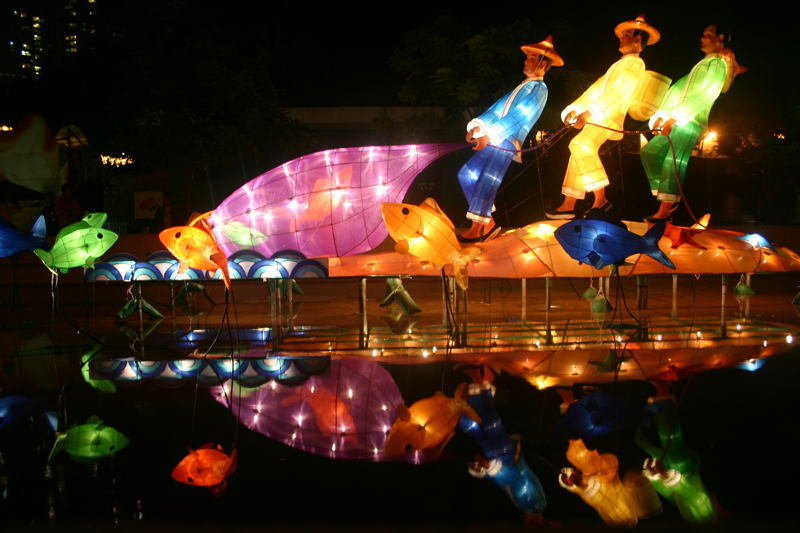Autumn Celebrations Moon Float