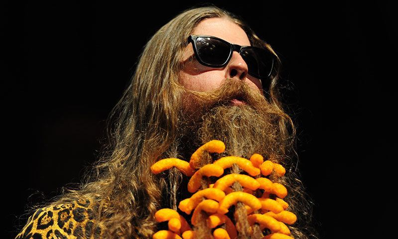 Cheeto Beard at World Beard and Moustache Championships