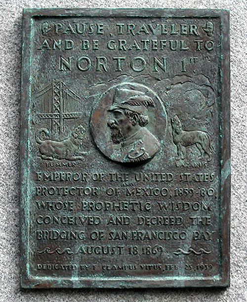 Emperor Norton Bay Bridge Plaque