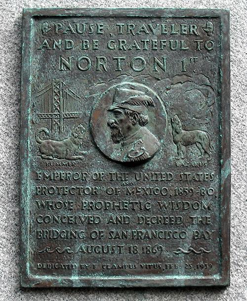 Emperor Norton Bay Bridge Plaque