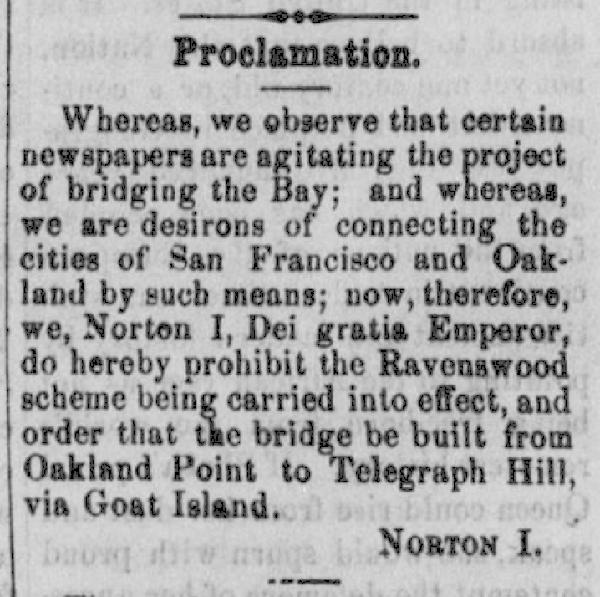 Emperor Norton Proclamation
