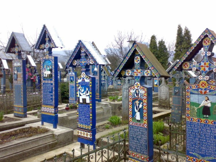 Weirdest Cemeteries Sapanta Crosses