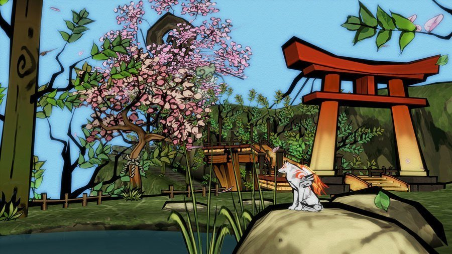 Video Game Environments Okami Pond