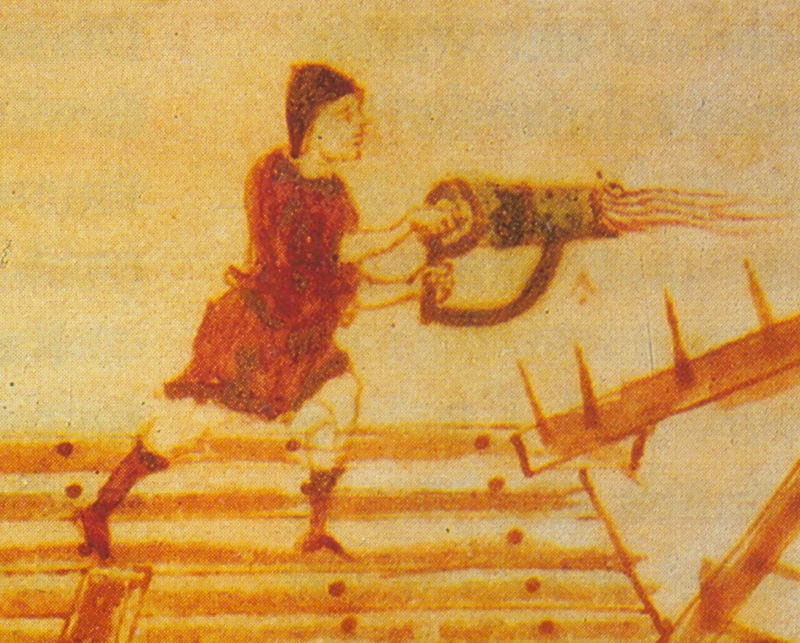 Greek Fire Used In A Flamethrower
