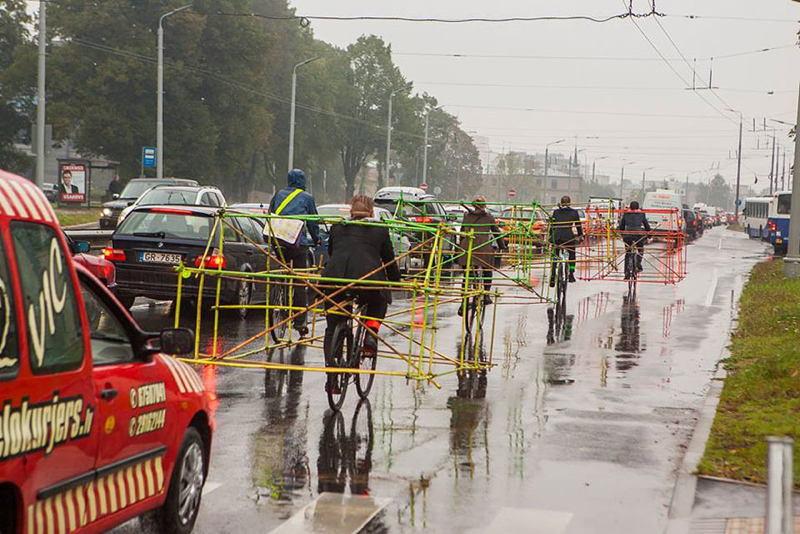 Latvia Cyclists Behind
