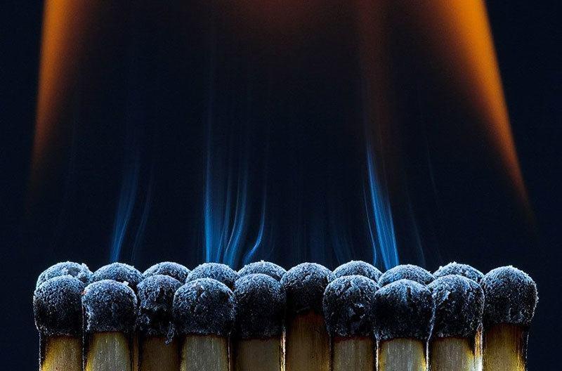 Fire Macro Photography