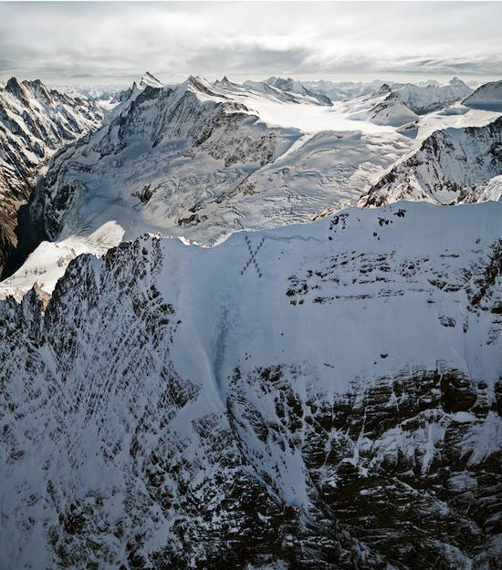 """Climbers Form An """"X"""" On The Matterhorn"""