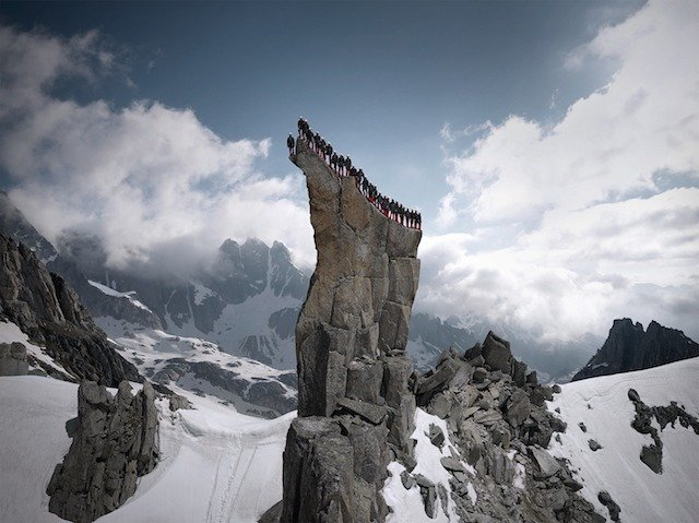 Atop A Rock Formation, Swiss Alps