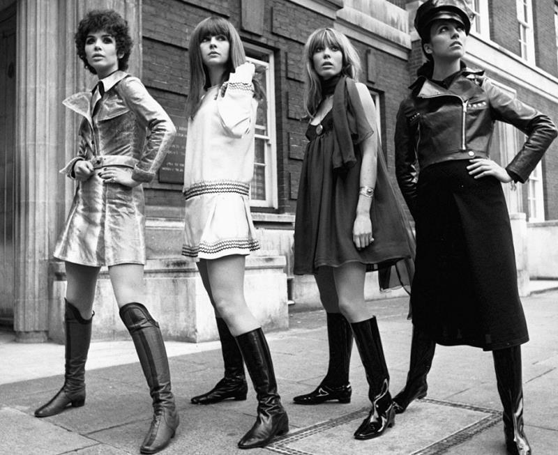 Mod girls from the 60s.