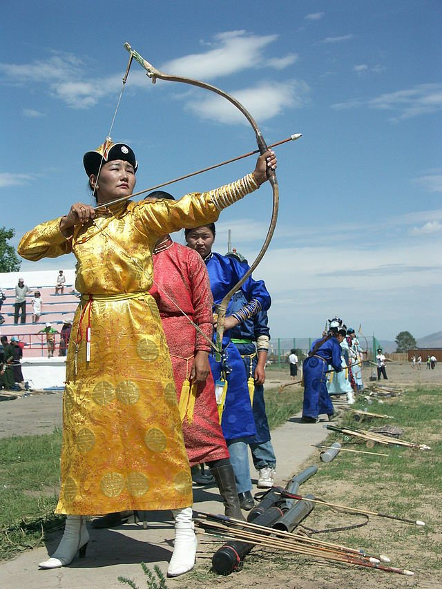 Women's Archery During The Nadaam Festival