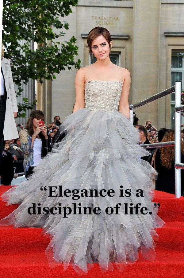 Oscar de la Renta on Elegance