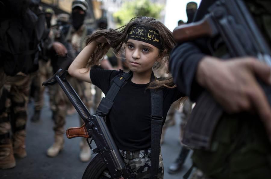 Palestinian Girl Gaza City