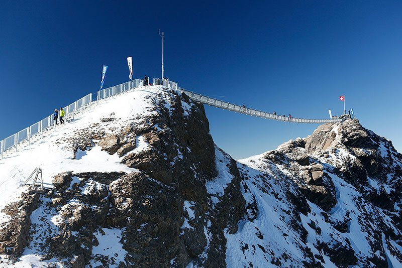 Suspension Bridge over Peaks