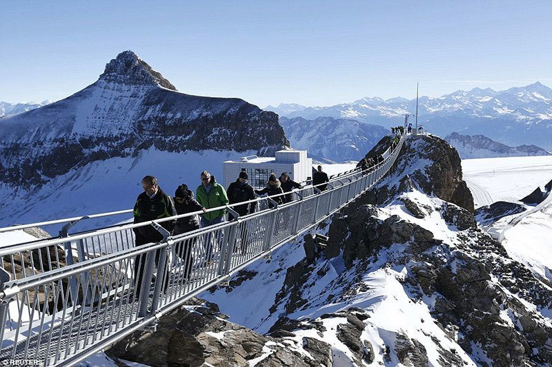 Swiss Alps Suspension Bridge