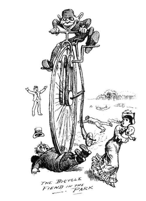Bicycle History Cartoon